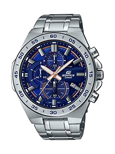 Casio Edifice Herren Massives Edelstahlgehäuse und Edelstahlarmband Uhrenarmband EFR-564D-2AVUEF