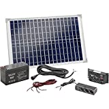 Esotec Poly 120005 Solar-Set 20 WP inkl. Akku, inkl. Anschlusskabel, inkl. Laderegler