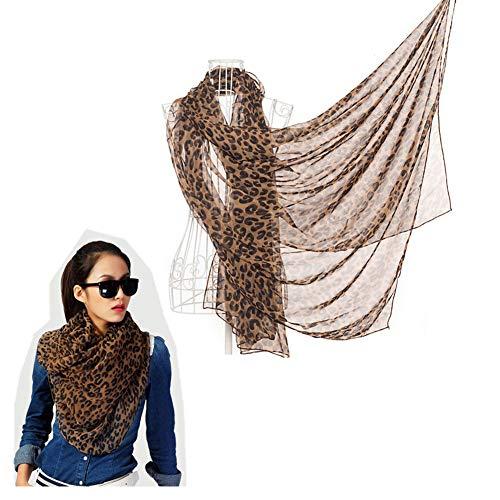 SwirlColor Fashion Leopard Print Soft Cotton Scarves Shawl Wrap For Women or Girls