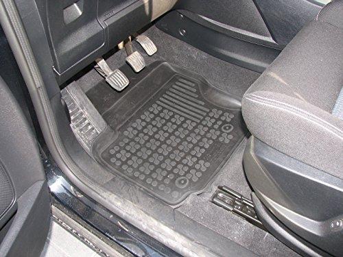 Rezaw - Plast 200908 Negro Alfombras de goma, Premium alfombrillas de goma , borde 3 centímetros