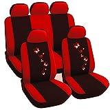 WOLTU Housse de siège voiture universelle Auto,housses pour siège,siège housse,couvre siège Noir Rouge (AS7250)
