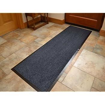 ... Heavy Duty Black PVC Edge Pile Top Rubber Barrier Entrance Door Kitchen  Utility Dust Floor Long Short Narrow Hall Hallway Runners Mats Rugs 60cm X  180cm