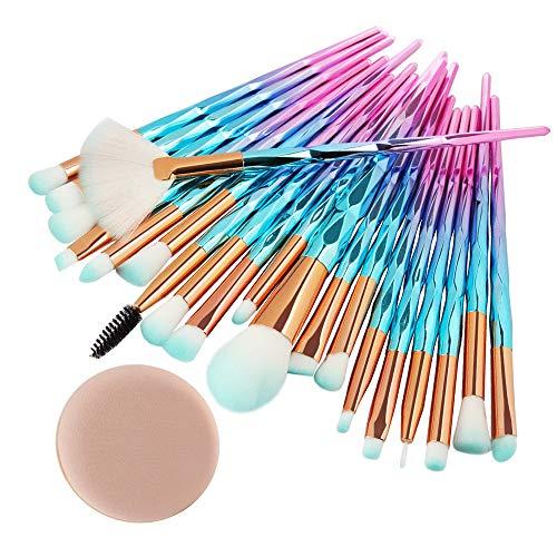 Cwemimifa Make-up Pinsel Lidschatten,20PCS Make Up Foundation Eyebrow Eyeliner Blush Cosmetic Concealer Brushes,E -