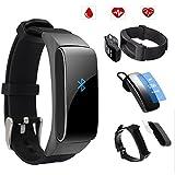 Uhruolo Montre Bracelet de Fitness, avec Fréquence Cardiaque Sommeil Podomètre...