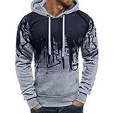 Sport T-Shirt Herren Sweatshirt Kanpola Slim Fit Langarm Shirt Bluse für Jogging Yoga Männer Tops Freizeit Pullover Langarmshirts (2XL/54, B-Grau)
