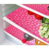 #5: E-Retailer Plastic Fridge Mat Refrigerator Drawer/Fridge Mat Set of 3 Pcs (12*17 inches) Multi Purpose Use