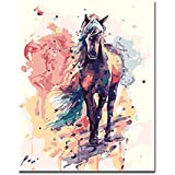 Pintura por números ZHAOHH Salvador DIY Pintura Digital por Números Dibujo Pintura por Números Kits Hogar Decoración de Pared Sin Marco 40X50cm