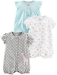 Simple Joys by Carter's Baby Girls paquete de 3 pelele de ajuste