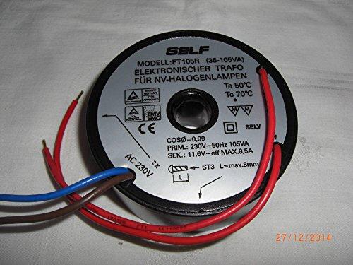SELF ET105R Transformator 105 Watt Rund 105W mit Mittelloch ELO1