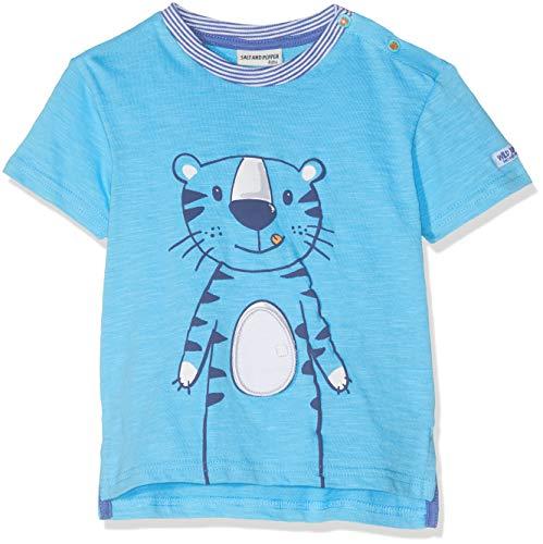 SALT AND PEPPER Baby-Jungen B Jungle Uni Tiger T-Shirt, Blau (Scuba Blue 457), 92 -