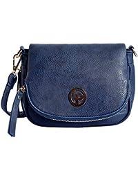 Lino Perros Women's Sling Bag (Blue) - B07GKY6V8W