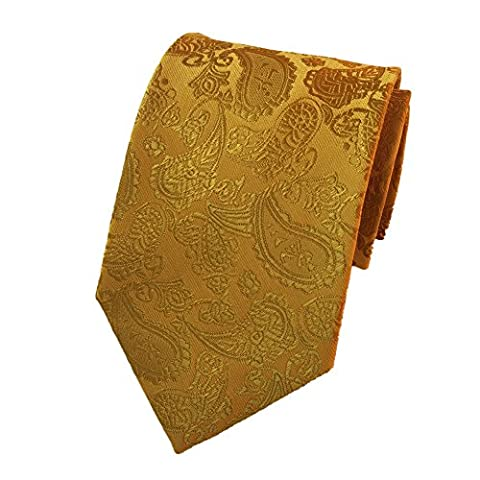 Z-P Mens Eagle Luxury Elegant Bright Gold Necktie Woven Skinny Microfiber Tie