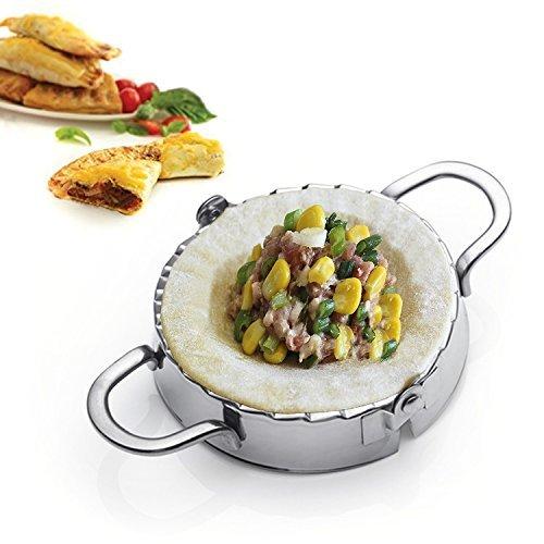 Best Utensilien Edelstahl Ravioli piroggen Dumpling Maker Wrapper-Gebäck Teig Cutter Küche Zubehör L silber