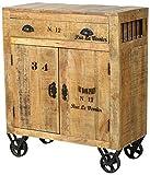 SIT-Möbel 1909-02 Kommode rustic mango-antikfinish mit gewollten Gebrauchsspuren, 80 x 40 x 95 cm, 2 Holztüren, 1 Schublade