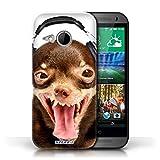 Hülle Case für HTC One/1 Mini 2 / Lächerlicher Hund Entwurf / Lustige Tiere Collection