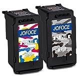 Jofoce Remanufactured Canon PG-545XL CL-546XL Druckerpatronen 1 Schwarz + 1 Farbe, Kompatibel mit Canon Pixma MG2450 MG2550S iP2850 MX495 MG3050 MG3051 MG2950 MG3053 MX490 iP2800 iP2840 iP2855 Drucker