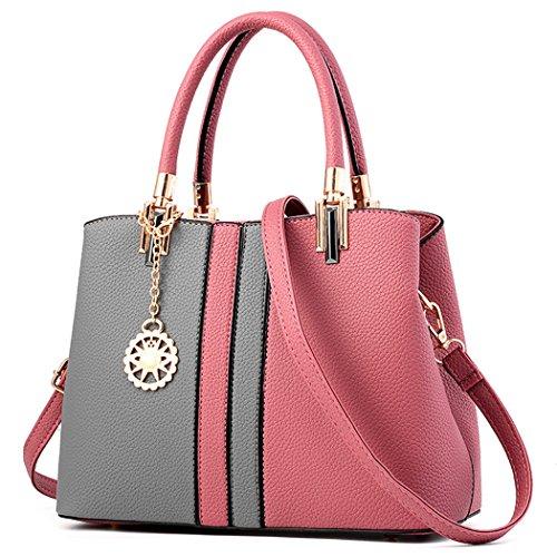 Borsa da Donna, Fanspack Sacchetto del Messaggero di Colore Della Miscela Della Borsa Della Maniglia del Sacchetto di Spalla Pink