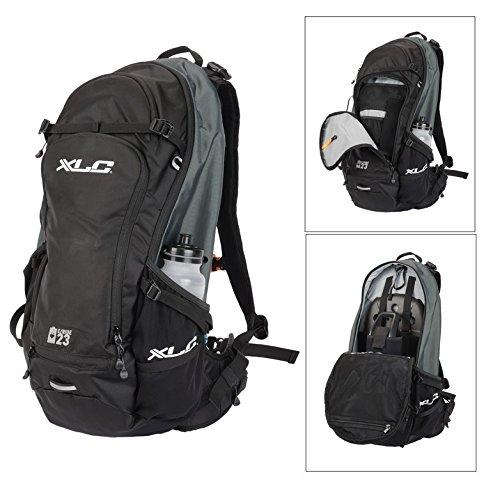 XLC Ba + Electric Bike Rucksack 23Litre Black/Teal/Grey