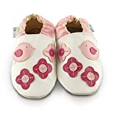 Snuggle Feet Babyschuhe, rosa Vögel, weiches Leder