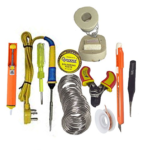Gilhot Professional Soldering Kit Siron Range - 10 In One Soldering Kit With Lot Of Instruments & Accessories