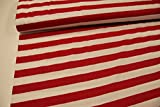 Plástico/50cmx140cm/Niños/mejor Jersey de calidad/Jersey rayas de ancho Rojo, Color blanco