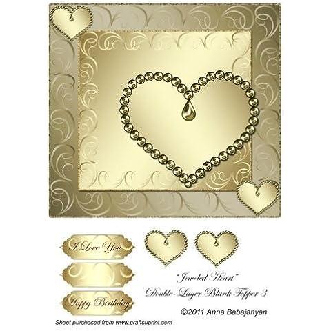 Corazón de cristales de doble-capa en blanco Topper 3 por Ana Babajanyan