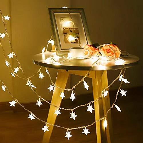 tiowea Hauptschlafzimmer-Stern-geometrischer Warmer LED-Vorhang-Licht-Streifen Spezial- & Stimmungsbeleuchtung