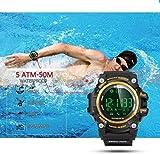 Lapgo Professional Sports EX16Gold Pro Smart Watch Bluetooth 4.0 Waterproof 5 ATM & IP 67 Smartwatch (Black, Strap, Regular)
