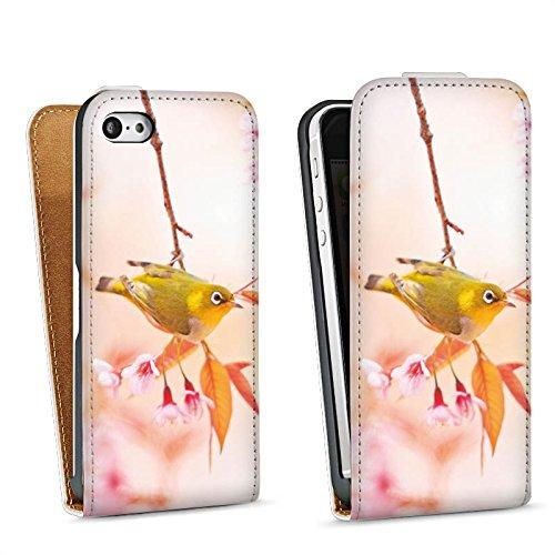 Apple iPhone 4 Housse Étui Silicone Coque Protection Oiseau Petit oiseau Nature Sac Downflip blanc