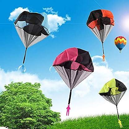 USeeworld 4 pcs Moda Mano lanzar Paracaídas Juguetes Niños Niña Pascua Navidad Vacaciones Cumpleaños Regalos de cumpleaños (Mezcla de 4 Colores)