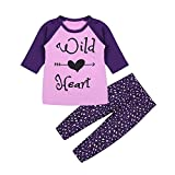 2 Spring Baby Mädchen Kleidung SET LONG SLEEVE Cartoon T-Shirt + Hose (4–5T)