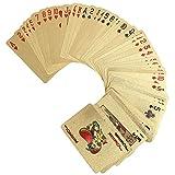 VGEBY Wasserdichte Spielkarten Plastik gefälschte Goldfolie Poker Cards (Style : Euro)