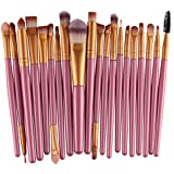 Welcomeuni 20pcs/set Makeup Brush Set Tools Make-up Toiletry Kit Wool Make Up Brush Set (Gold_1)