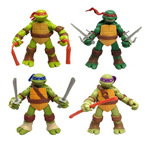 Teenage Mutant Ninja Turtles | 4 Kreative Puppen | Kuchen Zubehör Geschenke | Formen Bewegen Und Bewegen | 12 Cm,OneColor-12cm