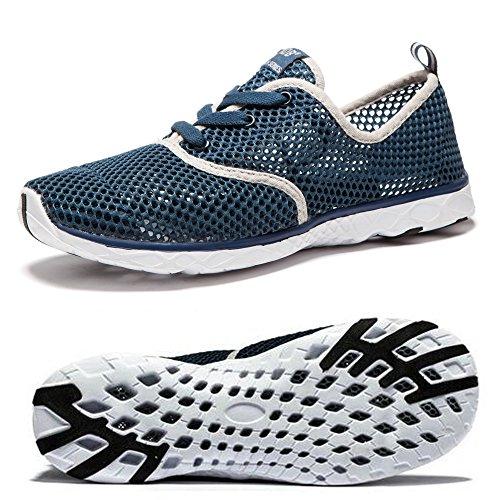 NDB Unisex Damen Herren Mesh Schnell Trocknender Aqua Wasser Schuhe (44 EU, Dunkelblau (Dark Blue))