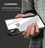 CASEBREED iPhone X Case, iPhone Xs Case, Hard Crystal Clear Transparent Back PC
