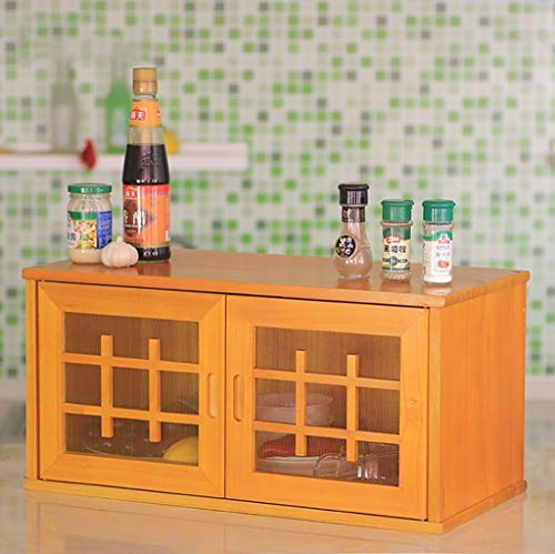 ZWJbine Massivholz Küche Wandbehang Schrank einfache wirtschaftliche Art Schränke Sideboards Schrank Größe: 61 * 30 * 29cm (Farbe : B)
