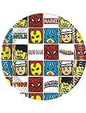 8 Assiettes en Carton Avengers Pop Comic 20 cm