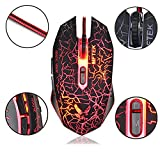 #6: ElectraMart Gaming Mouse with 7 Buttons 4 LED Colors Dpi Settings [800/1200/1600/2400] for PC, Gaming Laptops, Alien Ware, Rog Laptops, Desktop