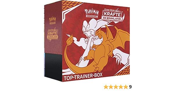 Kräfte im Einklang Pokemon Sonne /& Mond Serie 10 Deutsch Top Trainer Box