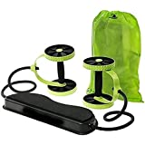 [Sponsored]Revoflex Ab Care Xtreme Ab Wheel Fitness Resistance Exerciser For Home Gym & Complete Body Workout Tummy Exercises Abdominal Exercises Ab Bench Machine