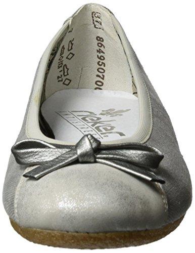 Rieker 41480, Ballerine Donna Grigio (Silber/grey / 90)