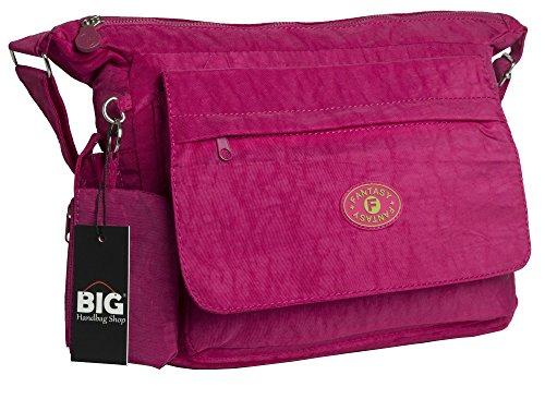 Big Handbag Shop Borsa A Tracolla Donna Rosa rosa
