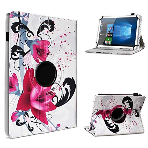 UC-Express Schutz Cover für Acer Iconia One 10 B3-A32 Schutzhülle Tablet Hülle Tasche Case 360° Drehbar 10.1 Zoll Etui, Farbe:Motiv 8