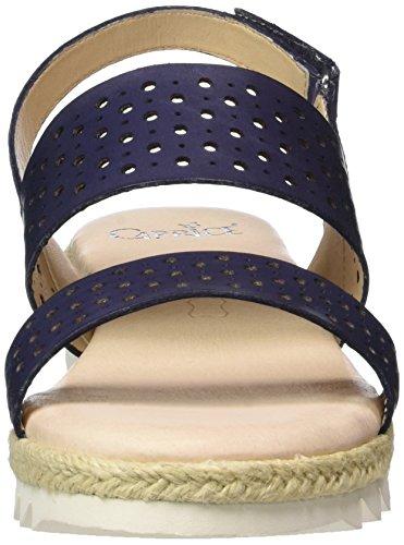 Caprice 28612, Sandales Bout Ouvert Femme Bleu (Navy Nappa)