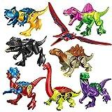 Househome 8 Tipos de Bloques de construcción de Dinosaurios de Colores, Juguetes de ensamblaje de...