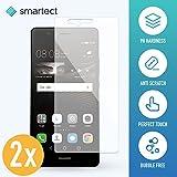 SmarTect 2X Protection d'Écran en Verre Trempé pour Huawei P9 Lite de Film Protecteur Ultra-Fin DE 0,3mm | Vitre Robuste avec 9H de Dureté et Revêtement Anti-Traces de Doigts