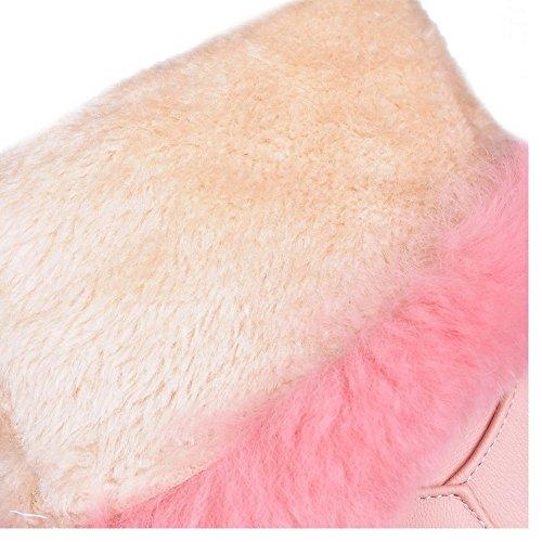RAZAMAZA Femmes Hiver Bottes A Enfiler white