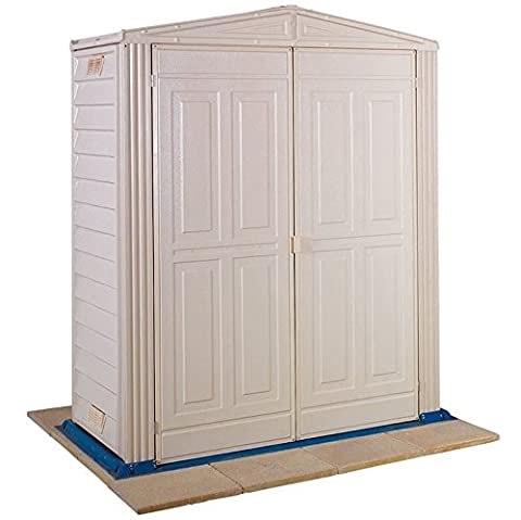 Duramax 5 x 3 ft Little Hut Plastic Shed - Ivory