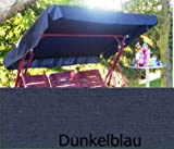 iffland MERINO EUROPA Sonnendach, Schaukeldach, Ersatzdach Hollywoodschaukel, nach Maß passt überall Farbe blau (ohne umnähten Kanten)